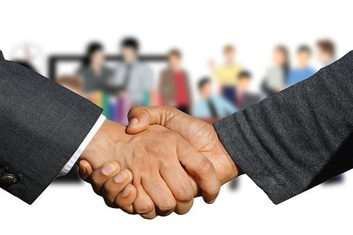 握手, ハンドシェイク, 手, ようこそ, 契約, 手を与える