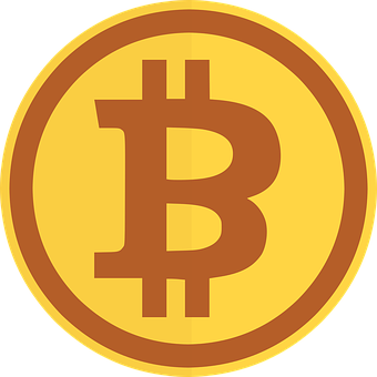 Bitcoin, Blockchain, Icon, Golden