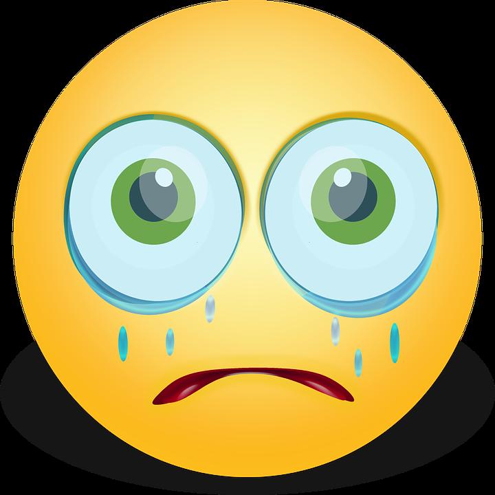 Grafisk, Smiley, Humørikon, Gråd, Trist, Tårer