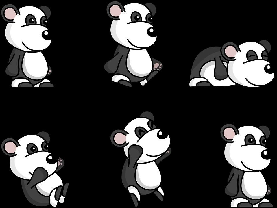 Panda Comic Cute Free Vector Graphic On Pixabay