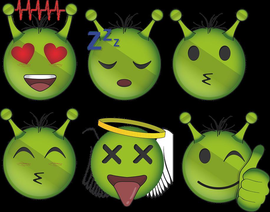 Alien Emoji Emoticon - Free vector graphic on Pixabay