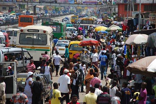 Street, Africa, Ghana, City, Streets