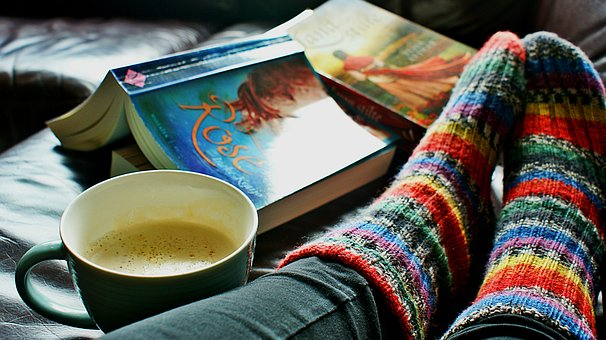 Read, Socks, Coffee, Morning, Woman