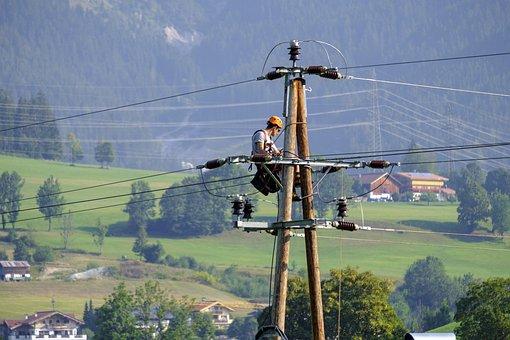 Electrician, Craftsmen, Workers, Work
