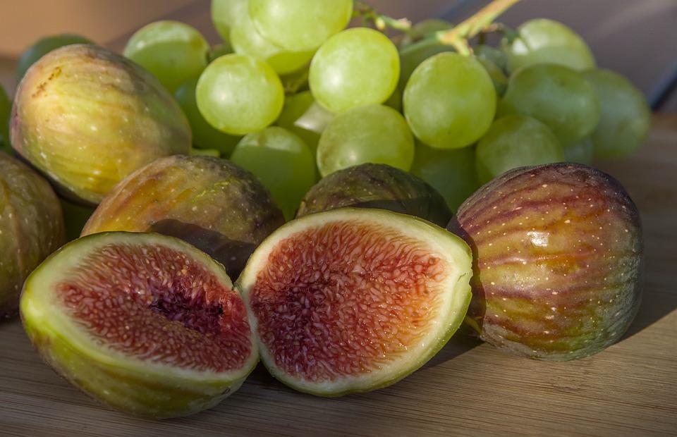 Fichi, Uva, Frutta, Caduta, Vite