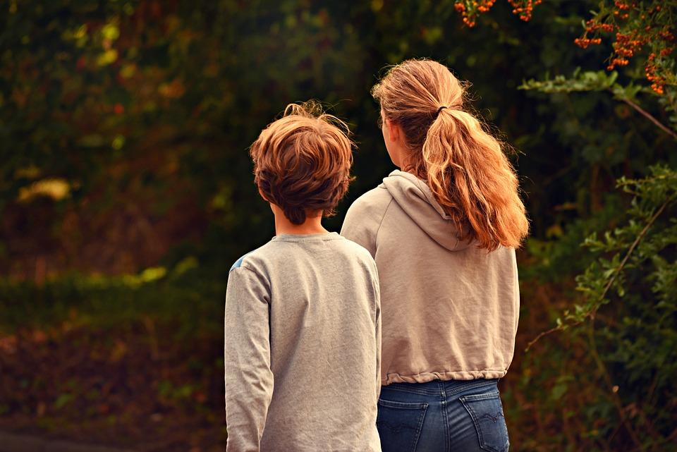 Niño, Niña, Hermano, Hermana, Familia, Kids, Juntos