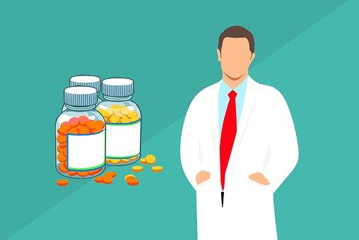 Pharmacist, Pharmacy, Medicine, Man