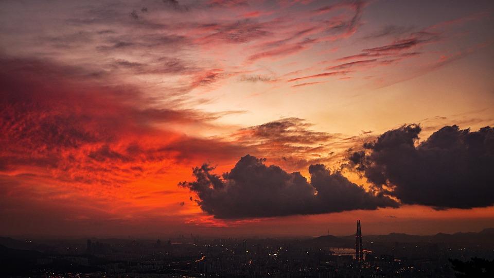 glow cloud sunset free photo on pixabay
