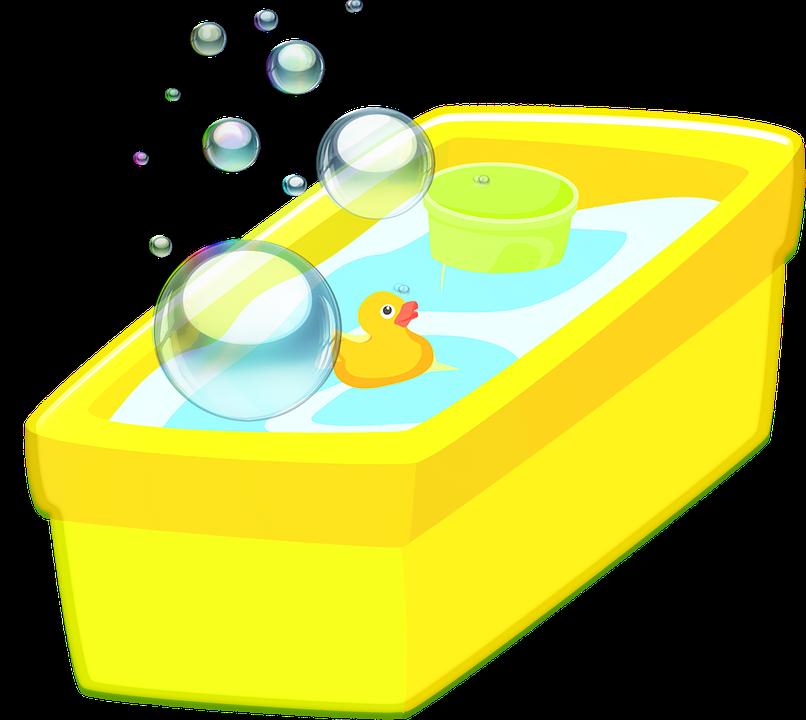 Badkar Bubblor Gummi Duckie · Gratis bilder på Pixabay