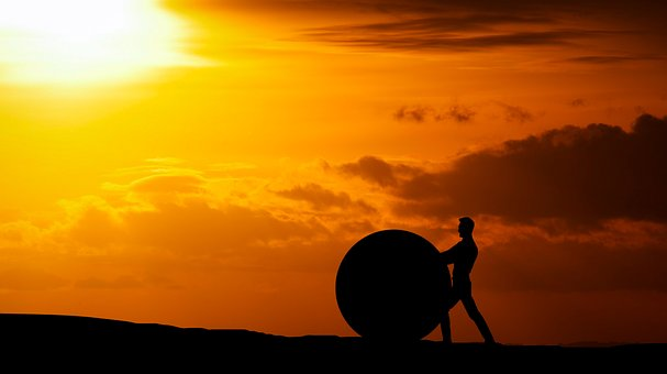 Rock, Ball, Struggle, Push, Man, Hill to show Still Struggling With That Online Business Idea?