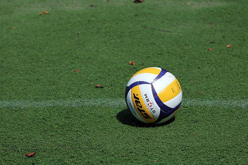 Volleyball, Grass, Sport, Games, Ball