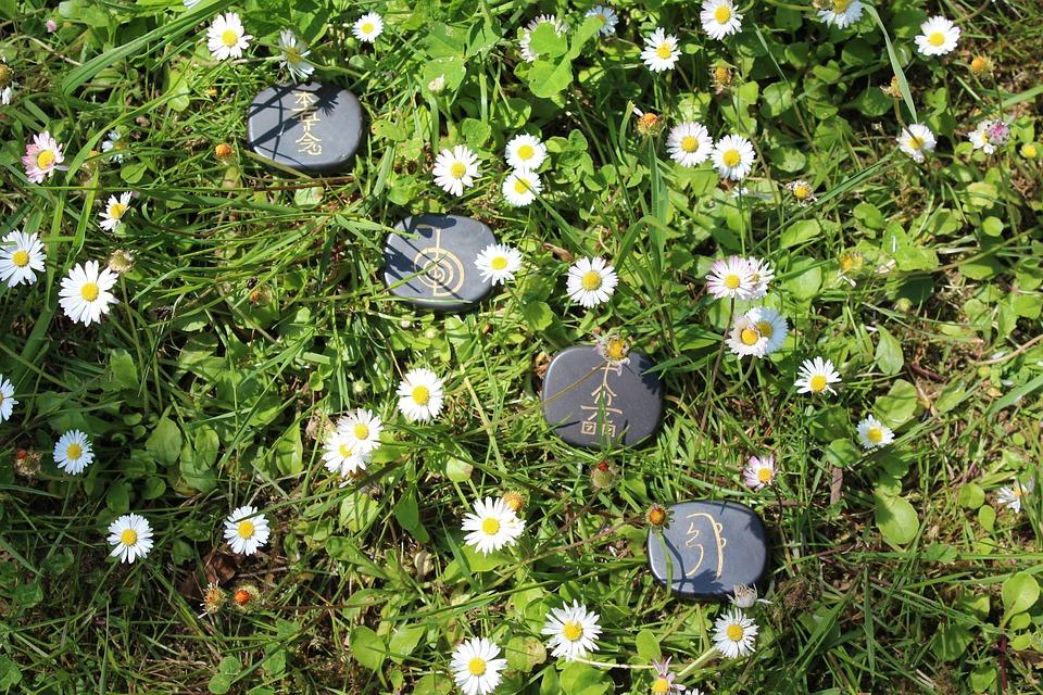 Natur, Blumen, Reiki, Heilung, Kristalle