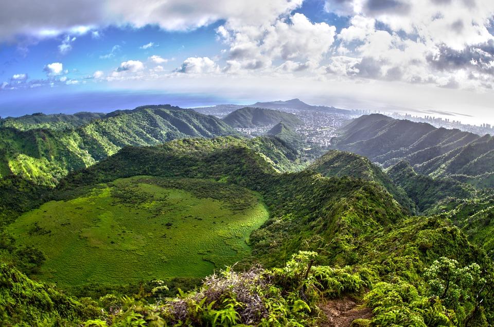 Kaau Crater, Hike, Hiking, Landscape, Hawaii, Clouds