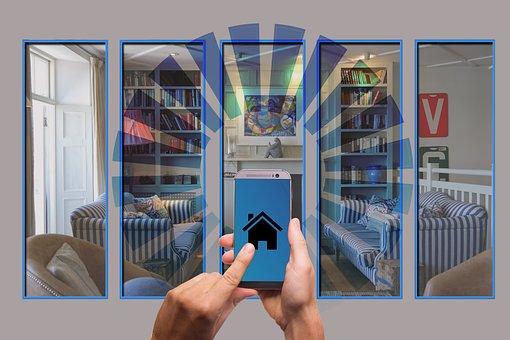智能家居, 房子, 技术, 多媒体, 智能手机, 坏, 互联网的东西, 车库