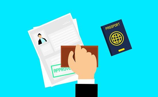 ビザ, 承認, 旅, テンプレート, サービス, ツアー, 書類
