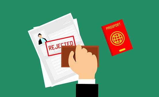 ビザ, 拒否, 旅, テンプレート, サービス, ツアー, 書類