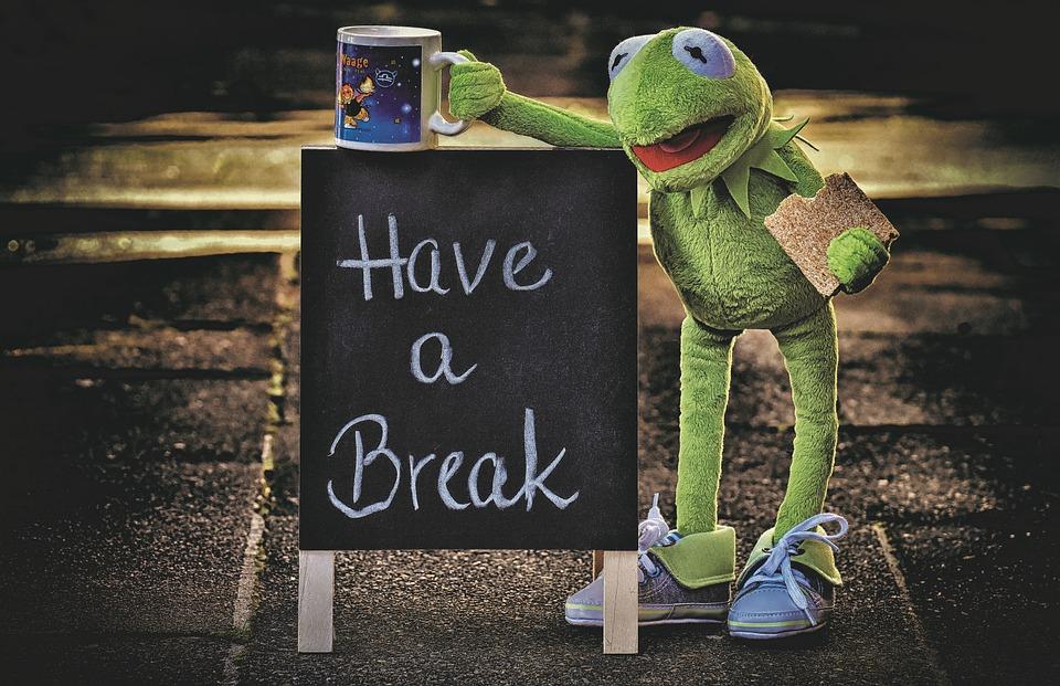 Кърмит, Чаша, Пийте Кафе, Почивка, Кафе Пауза