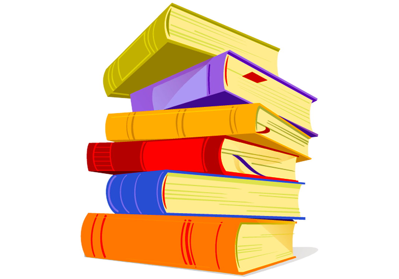 Стопка книг на прозрачном фоне картинки для детей