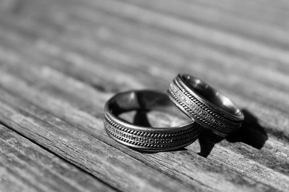 Noir Et Blanc Anneaux De Mariage Photo Gratuite Sur Pixabay