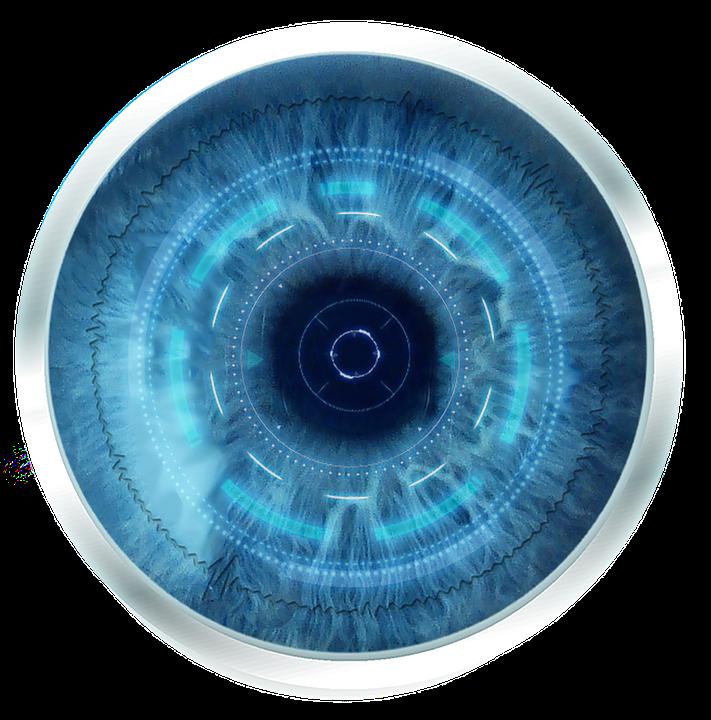 futuristic eye robot blue free image on pixabay