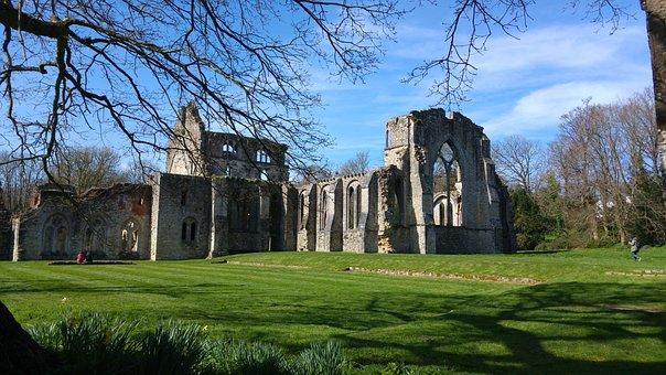 Castle, Ruin, Netley, Abbey, Hampshire