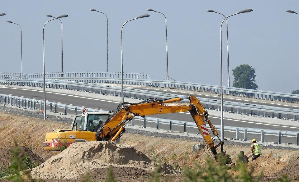Way, Building, Excavator, The Viaduct, Road, City, Work