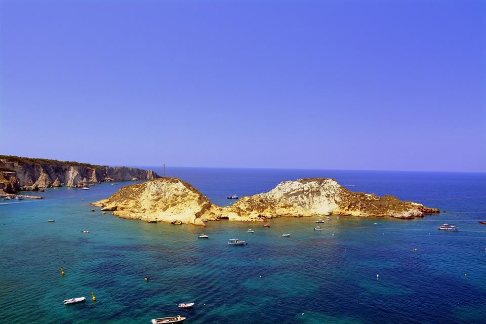 Isola, Cretaccio, Mare, Imbarcazioni, Isole Tremiti