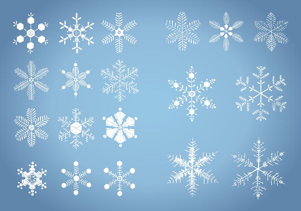christmas snowflake snowflakes free vector graphic on pixabay