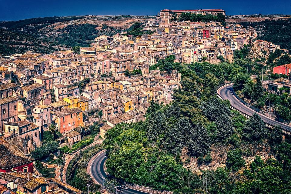Houses, City, Sicily, Downtown, Ragusa, Historic Center