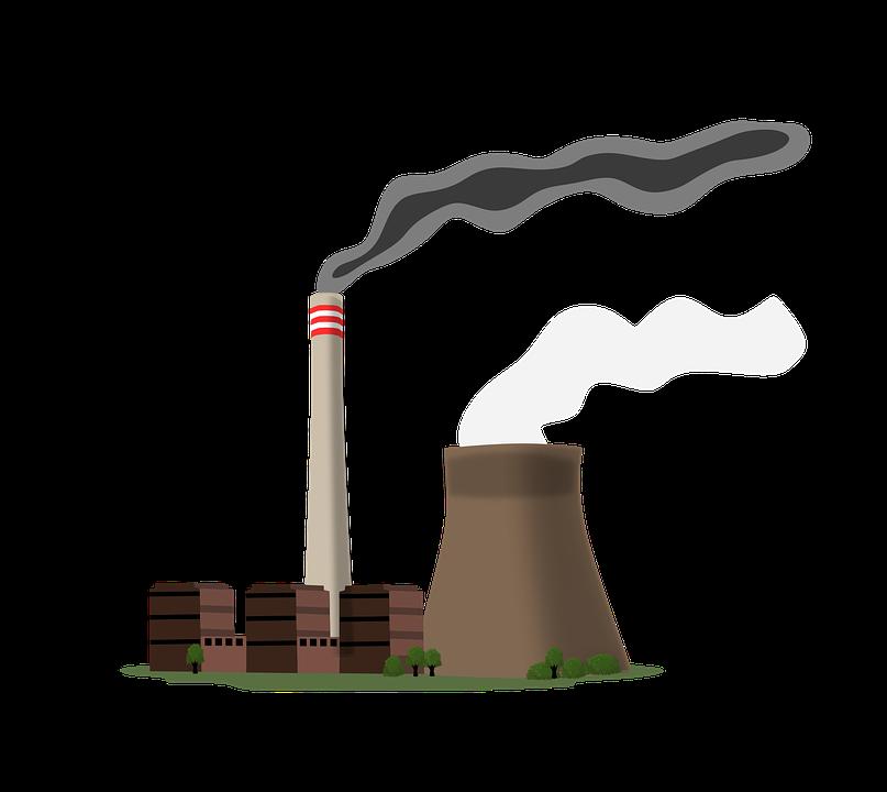 発電所, 電流, 業界, エネルギー, 冷蔵庫のチムニー, 煙突, の石炭燃焼, 石炭火力発電所, 汚染