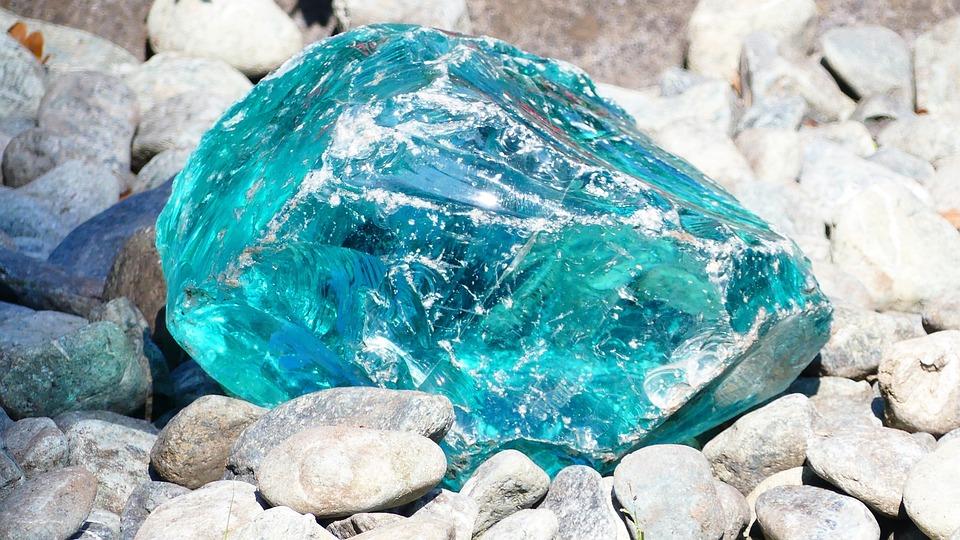 Stone Blue Stones Deco Light Turquoise