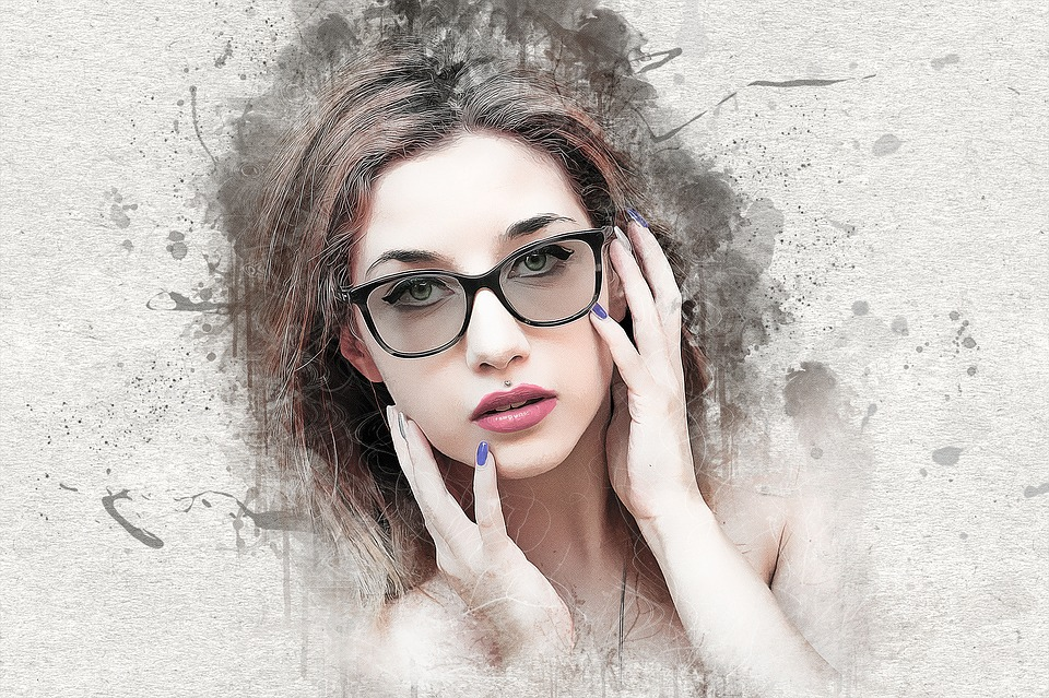 ef2834dddb woman girl female young beauty model glasses