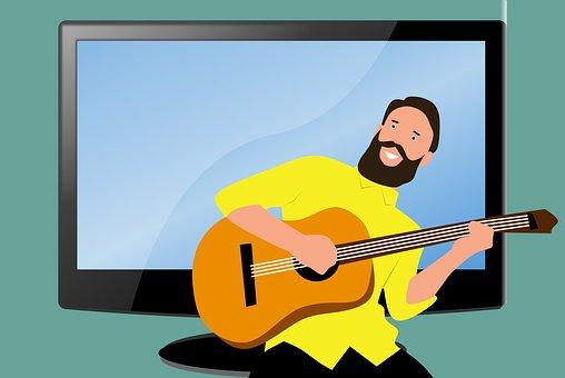 Pop, Guitarist, Music, Cartoon, Singer