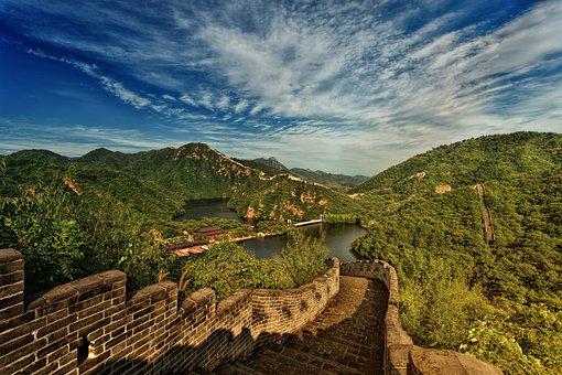 Great Wall, China, Panorama, Landmark