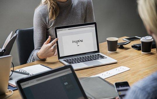 金发, 业务, 企业家, 咖啡, 同事, 公司, 计算机, 会议, 连接, 工友