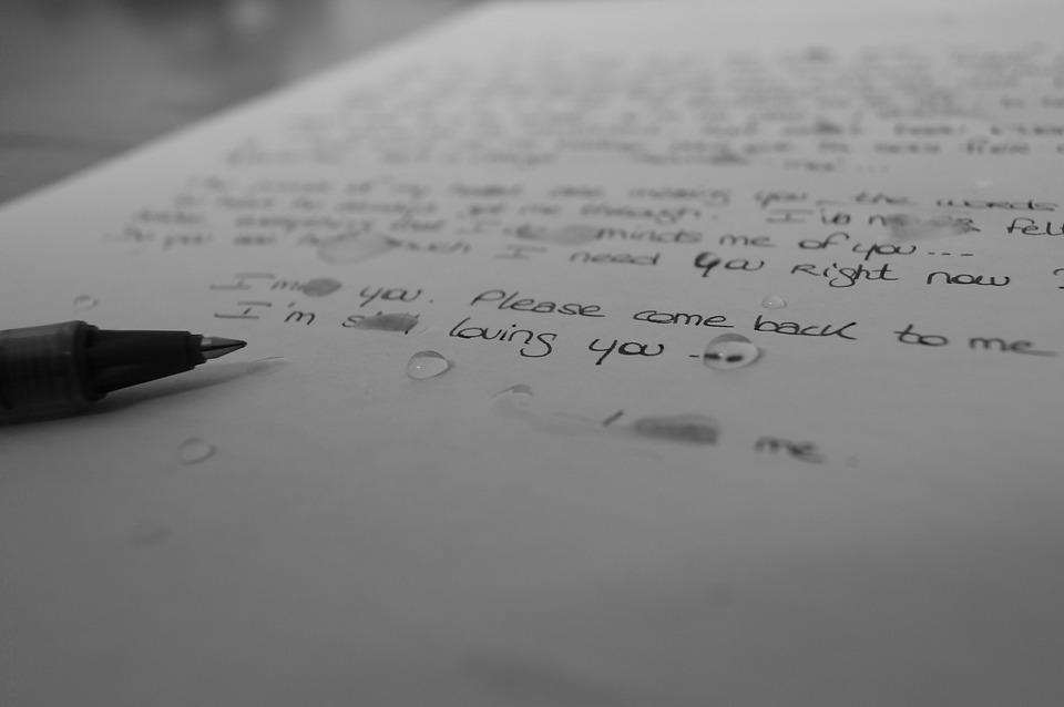 Lettre Larmes Triste Photo Gratuite Sur Pixabay