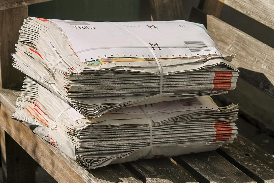 newspapers stack bundle shipping paper stack paper