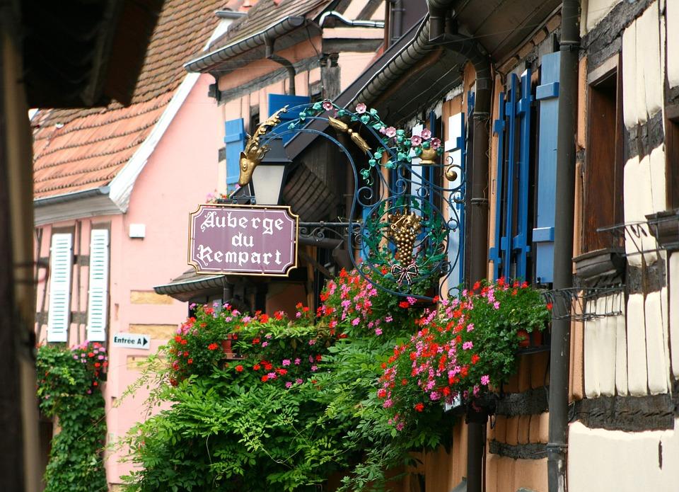 Eguisheim, Alsace, Centre Historique, Ferme