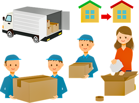 Moving, Boxes, Mover, Moving Truck