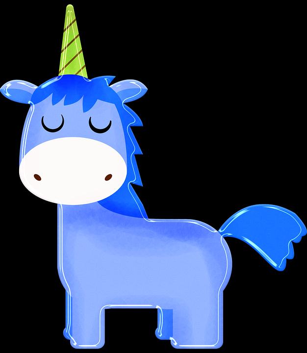 Unicorn Kartun Biru Anak Laki Laki Gambar Gratis Di Pixabay
