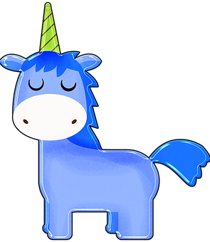 Unicorn, Cartoon, Blue, Boy Unicorn