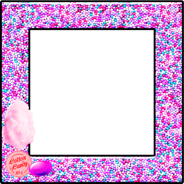 Candy Frame Cotton Pink - Free image on Pixabay