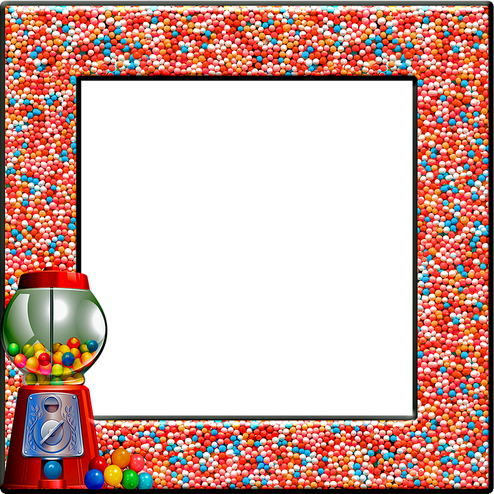Candy Frame Gumball Gum Free Image On Pixabay