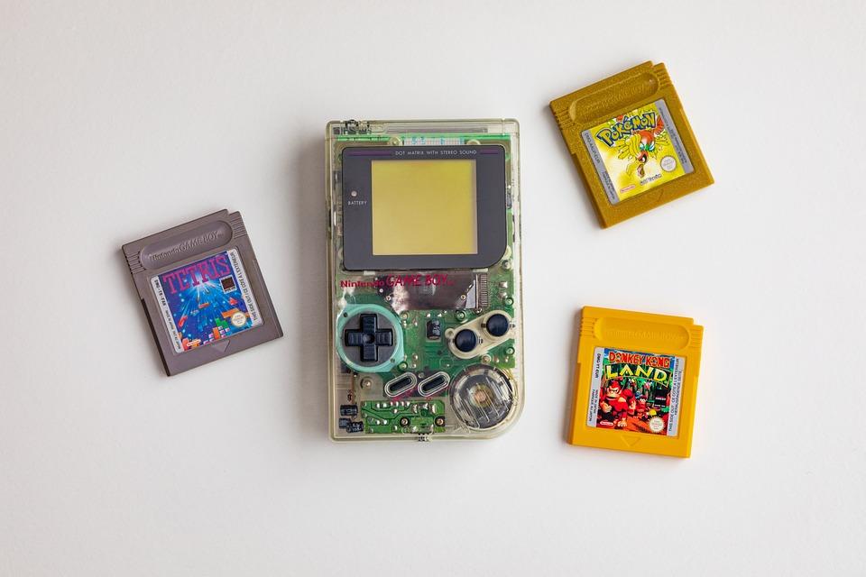 Gameboy, Originale, Chiara, Trasparente, Palmare