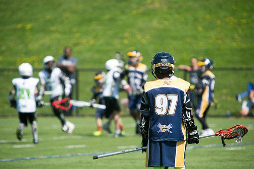 Youth, Lacrosse, Play, Game, Green