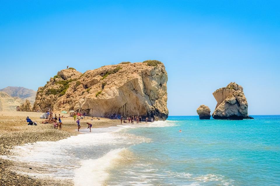 Cyprus, Petra Tou Romiou, Aphrodite'S Rock, Scenery