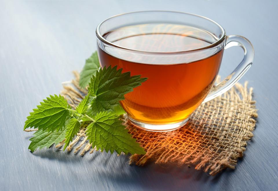 Tè, Bere, Tisana, A Base Di Erbe, Ortica, Caldo, Mug