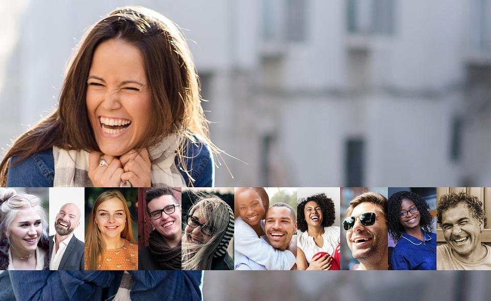 笑う, 笑顔, 人間, 個人, 男, 女性, 喜び, 肯定的です, 幸せです, 笑みを浮かべてください