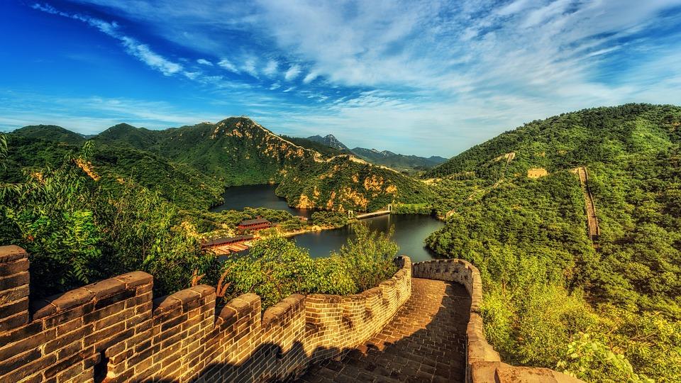 Grande Muraglia, Cina, Panorama, Punto Di Riferimento