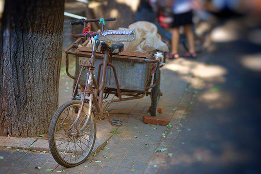 Beijing, Hutong, Bike, Asia, China, Old